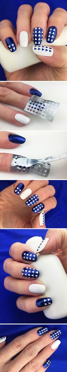 "Nail Stencils design ""Triangle"" #nailart"