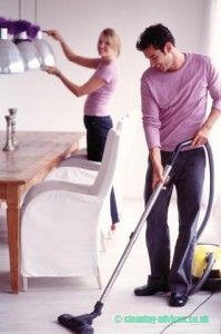 Cleaning alone or with company