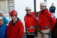 Kate Middleton Photos Photos - Prince William, Duke of Cambridge and Catherine, Duchess of Cambridge listen to a briefing as they prepare to abseil as they visit the Towers Residential Outdoor Education Centre on November 20, 2015 in Capel Curig, United Kingdom. The Towers is an outdoor education centre run by Wolverhampton Council providing adventure activities for children. - The Duke and Duchess of Cambridge Visit North Wales