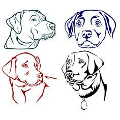 Labrador Dog Lab Cuttable Designs