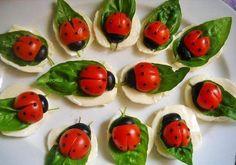uğur böceği şeklinde domates kahvaltı tabağı - Kadınlar Sitesi