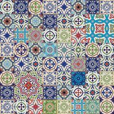 Mega Magnifique Patchwork Sans Couture à Partir Coloré Marocaine ...