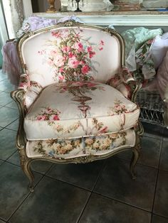 LOVING THIS CHAIR IN VINTAGE ROSES FABRIC
