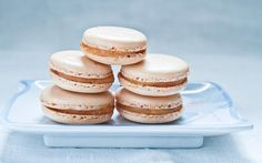 Pink Salted Caramel Macarons  Love the tips that go along with the recipe!
