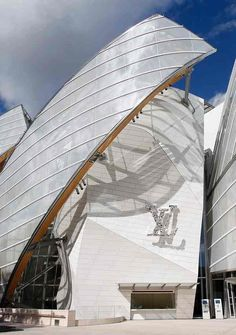 The Fondation Louis Vuitton 'wears like a big diamante brooch the intertwined letters LV'.