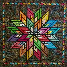 Fractured Star, Quiltworx.com, Made by CI Carol Thelen