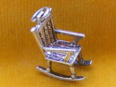 VINTAGE STERLING SILVER CHARM ROCKING CHAIR