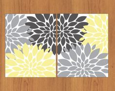 grey teal and yellow kitchen - Google Search