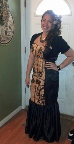 Tongan tapa dress