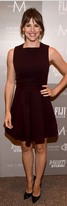 Toronto - Jennifer Garner in Proenza Schouler Sleeveless Pleated Skirt Dress