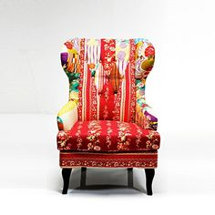 Lovely PATCHWORK DESIGN ARMCHAIR multicoloured upholstered fabric WING CHAIR from XTRADEFACTORY DESIGN DELIGHTS http://www.amazon.co.uk/dp/B0096EDGS4/ref=cm_sw_r_pi_dp_JLkDvb022FG1S