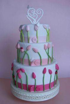 Pretty tulip cake