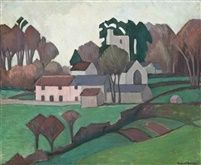 Robert Polhill Bevan. Clayhidon Church. 1922. St Andrew's Church, Clayhidon, Devon