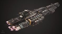 Fractured Space ship rework, the primary goal with this ship rebuild was to optimise tri count, reduce material count, and overall asset polish. Awesome Concept/ Basemesh by ECG Art Lead Alex Clarke and material shader work by ECG Artist Hans Palm. Original TDS ship concept design by Long Ouyang - https://www.artstation.com/artwork/VaXxg