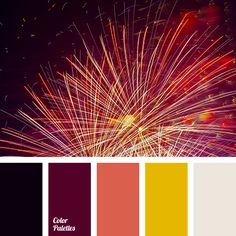 Moderately colorful palette that connects deep dark and bright vivid colors… Orange Color Palettes, Colour Pallette, Color Harmony, Color Balance, House Color Schemes, Colour Schemes, Firework Colors, Bright Decor, Design Seeds