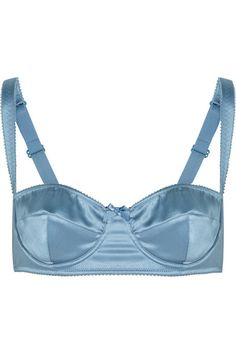 Dolce & Gabbana silk and satin balconette bra, this shade of blue gives me palpitations