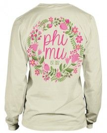 Phi Mu Floral Wreath T-shirt