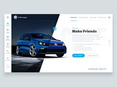 VW designed by Daniel Klopper. Connect with them on Dribbble; Ui Ux Design, Interface Design, Page Design, User Interface, Website Design Layout, Layout Design, Magazine Ideas, Graphic Design Brochure, Affinity Photo