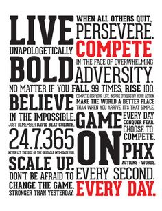 The Manifesto poster from Compete Every Day. love it.