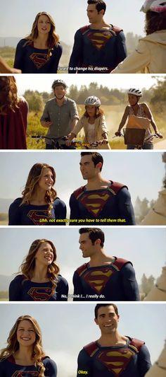 That's Superman. Hahaha Derek Hale (Tyler Hoechelin) is frickin superman😂 Rip Hunter, Supergirl Superman, Supergirl And Flash, Watch Supergirl, Superhero Shows, Superhero Memes, Katie Mcgrath, The Cw, Top Superheroes