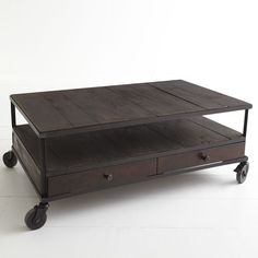 W2328French Industrial Coffee Table Coffee Tables