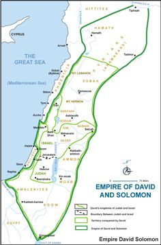 Map of the Empires of David and Solomon