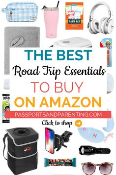 So you know what to pack and what travel necessities to bring on a long car ride while not spending a fortune here are 21 of the best road trip essentials to buy. These road trip hacks are perfect for everyone including kids solo teenagers and families. Road Trip Packing List, Road Trip Essentials, Road Trip Hacks, Packing Tips For Travel, Travel Hacks, Travel Essentials For Women, Budget Travel, Airplane Essentials, Travel Gadgets