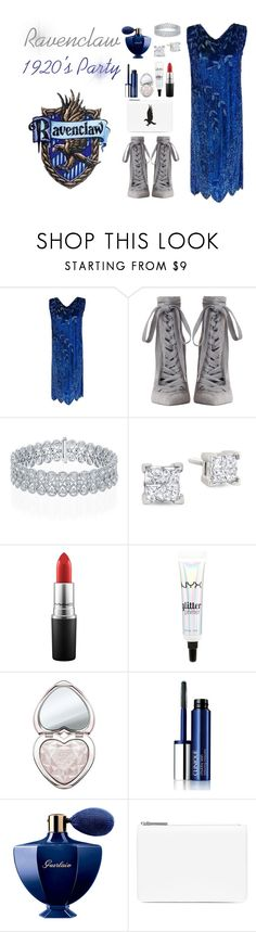 """Ravenclaw House: 1920's Party"" by msmaharaja ❤ liked on Polyvore featuring Zimmermann, MAC Cosmetics, NYX, Too Faced Cosmetics, Clinique, Guerlain and Maison Margiela"
