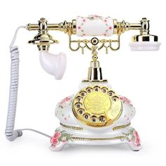 Vintage Telephone, Landline Phone, Country Style, Retro, Antiques, Unique Jewelry, Handmade Gifts, Antiquities, Kid Craft Gifts
