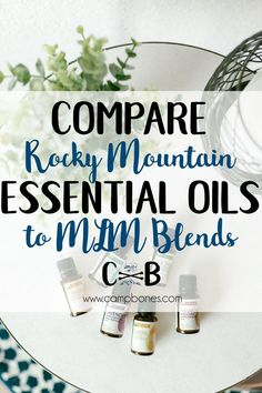 Have an Essential Oils blend you love from a direct marketing (MLM) company like DoTerra or Young Living and wondering if a similar blend is available from my favorite oil company, Rocky Mountain Oils? Check out this essential oils comparison chart to see