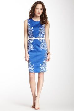 Anne Klein Belted Sheath Dress