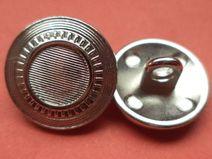 8 METALLKNÖPFE silber 16mm (5544-7) Knöpfe Metall