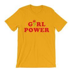 Girl Power T-Shirt in Yellow