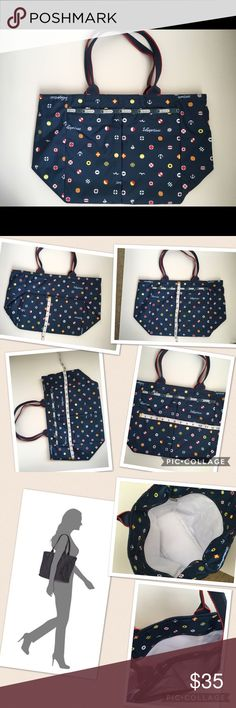 Lesportsac blue tote Lesportsac blue tote, it's so light and fits a ton of stuff inside, this tote is new without a tag! Never been carried! ☺ pet free and smoke free home! LeSportsac Bags Totes