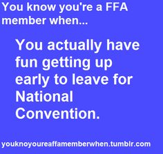 of course I do!! lol FFA: the only time this girl will willingly get outta bed early!