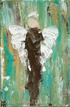 keystrokes & kaleidoscopes: Introducing a new series acrylic angel painting #faith #angel #art