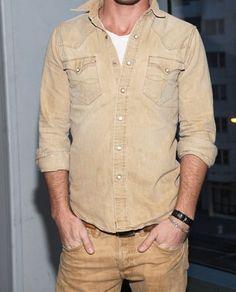 Ralph Lauren RRL vintage western shirt Chemise Kaki, Le Style De Lierre,  Mode Homme 8e3dcf8de660
