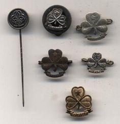 Six Denmark DDS Girl Guides badges