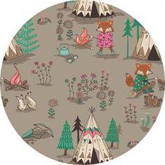 Camelot Fabrics, Wilderness, Campsite Light Taupe