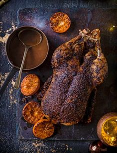 Roast Duck Recipe With Orange Sauce This easy five-spice duck is a great roast for when there's just a few of you for dinner. It feels celebratory to bring out a whole roast bird to the table and the clementines and spices will make the kitchen smell really festive