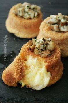 Tortini di patate e porcini ripieni