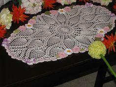 Krone Crochet: Brand new crochet table runner doily with irish ro...