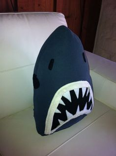Shark attack jaws cushion/toy.  Made to order. by eolaG on Etsy, $49.38