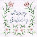Flower Border Happy Birthday