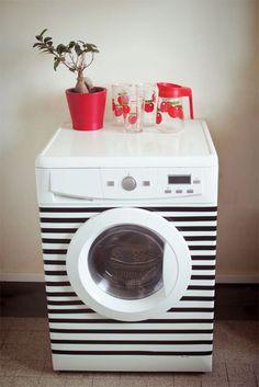Schlafzimmer Source Home Decor Budget, Home Decor on a budget, Home Deco Masking Tape, Washi Tape Diy, Home Decoracion, Diy Casa, Tape Art, Diy Shops, Creation Deco, Diy Hacks, Washing Machine
