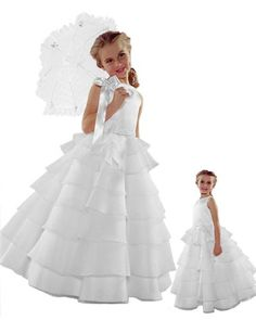 ST244 Brand New Flower Girl White Wedding Layers Dress 10 * Find out more about the great product at the image link.