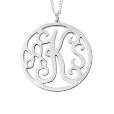 Personalized Monogram Necklace, circle initials necklace, Customized necklace, personalized jewelry, alloy handmade necklace  $8.99