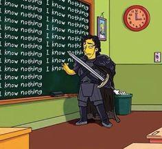 Jon Snow In The Simpsons