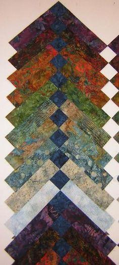French braid quilt in batiks by adrian
