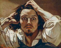Gustave Courbet, Self-Portrait - L'homme Désespéré on ArtStack #gustave-courbet #art